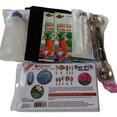 3D Jelly Gelatin Tools Starter Kit Amazing Jelly Jello Art Cake Kit #16 NEW