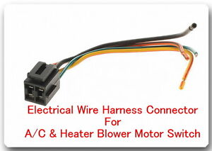 4 Wire Pigtail Electrical harness connector for A/C & Heater Blower  Wire Harness Connector on wire clip connectors, power supply connectors, wire bolt connectors, wire block connectors, frame connectors, wire lock connectors, wire panel connectors, terminal connectors, wire jumper connectors, wire plug connectors, wire cage connectors, radio connectors, headlight connectors, wire rope connectors, wire ring connectors, relay connectors, wire nut connectors, wire post connectors, sensor connectors, wire connector kit,