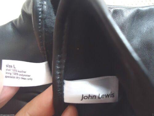 "NEW JOHN LEWIS WOMEN/'S BLACK PAPPA LEATHER W//LINED WINTER GLOVES 8-3//4/""L SZ:M,L"