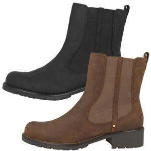 Clarks Orinoco Club Schuhe Damen Leder Stiefel Women Boots Tri Pearl 2034091