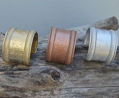 Silver,brass copper finish, Metal, Adjustable , Cuff Fashion Bracelet