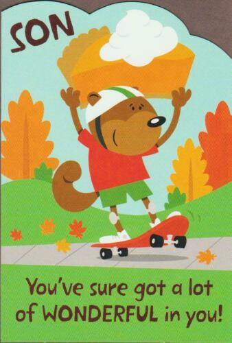 SON YOU/'VE SURE GOT A LOT OF WONDERFUL IN YOU! THANKSGIVING Greeting Card