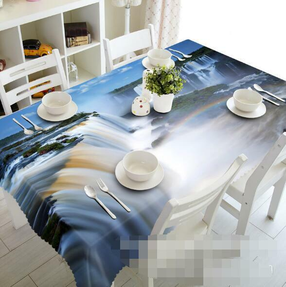 3D River 533 Tablecloth Table Cover Cloth Birthday Party Event AJ WALLPAPER AU