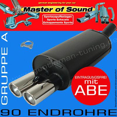 MASTER OF SOUND ENDSCHALLDÄMPFER VW GOLF 3 1.4L 1.6L 1.8L