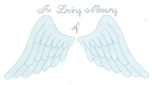 ANGEL WINGS CROSS STITCH PATTERN counted  In Loving Memory