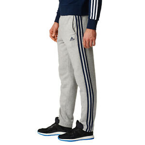 32205cf34e Image is loading Adidas-Essentials-3-Stripe-Tracks-Tracksuit-Pants-Gray-
