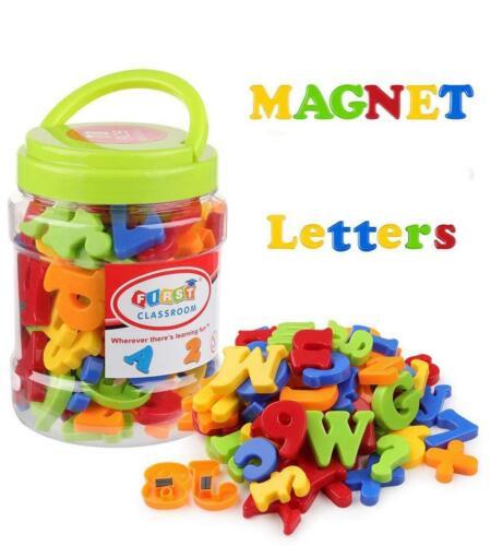 Letra del alfabeto magnética matemáticas número símbolo Imanes para refrigerador en niños Jar 78Pcs