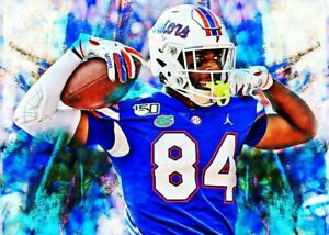 2021 Kyle Pitts Florida Gators Football 11/25 Art ACEO Print Card By:Q