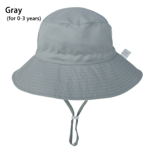 UV Protection with Adjustable Chin Strap Beach Cap Baby Sun Hat Bucket Hat