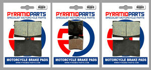 Front & Rear Brake Pads (3 Pairs) for Laverda 668 Ghost, Diamante 1997