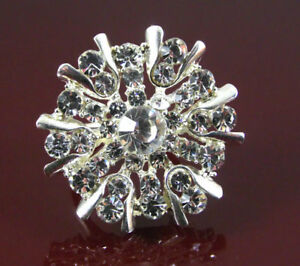 CHUNKY-SILVER-STATEMENT-CLUSTER-RING-SET-WITH-CLEAR-CRYSTALS-UK-SIZE-N-US-6