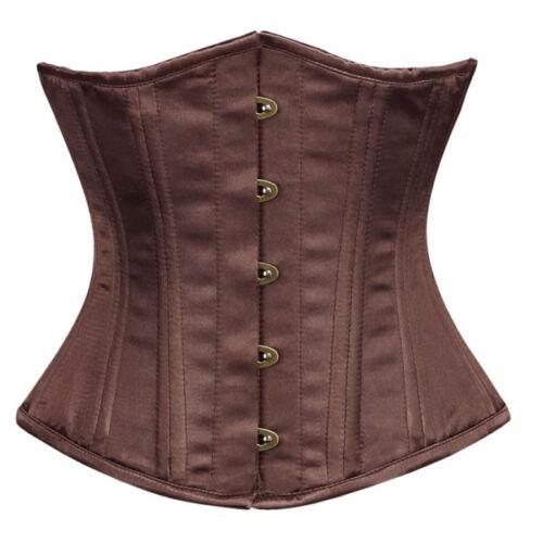 di sottobosco doppio cinturino corsetto basco burlesque in Costume gotico raso da con OqnCEqwfT