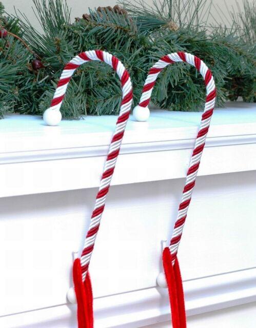 Christmas Stocking Hanger.Haute Decor Cc0202 Candy Cane Christmas Stocking Holders 9