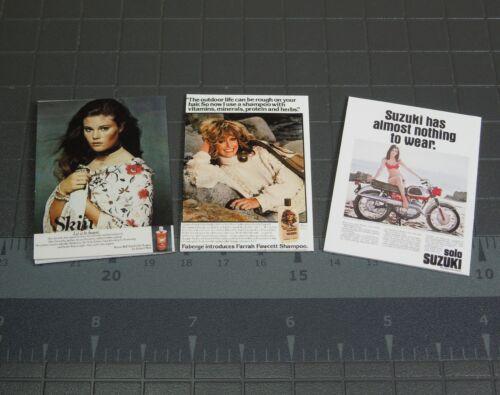 Échelle 1//6 Magazines-Lot de 3 Custom Farrah Fawcett couvre des années 1970
