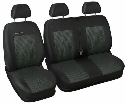 Van seat covers fit Volkswagen Transporter T6 grey P3