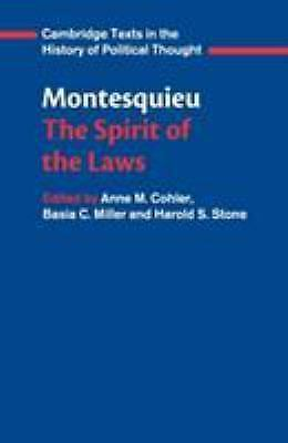 Montesquieu: The Spirit of the Law by Charles de Montesquieu(2008)13th PB 180117