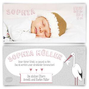 Babykarten.Details Zu Geburtskarten Storch Geburt Babykarten Madchen Junge Foto Karten
