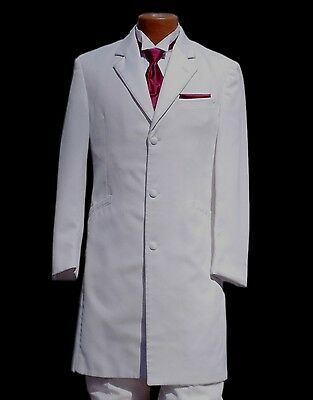 100/% Wool One Button Peak Lapel Tuxedo Minor Damage Costume//Theatre Only
