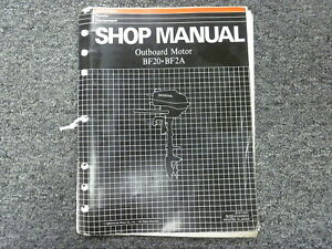 honda models bf20 bf2a outboard motor shop service repair manual p rh ebay com Parts Manual Parts Manual