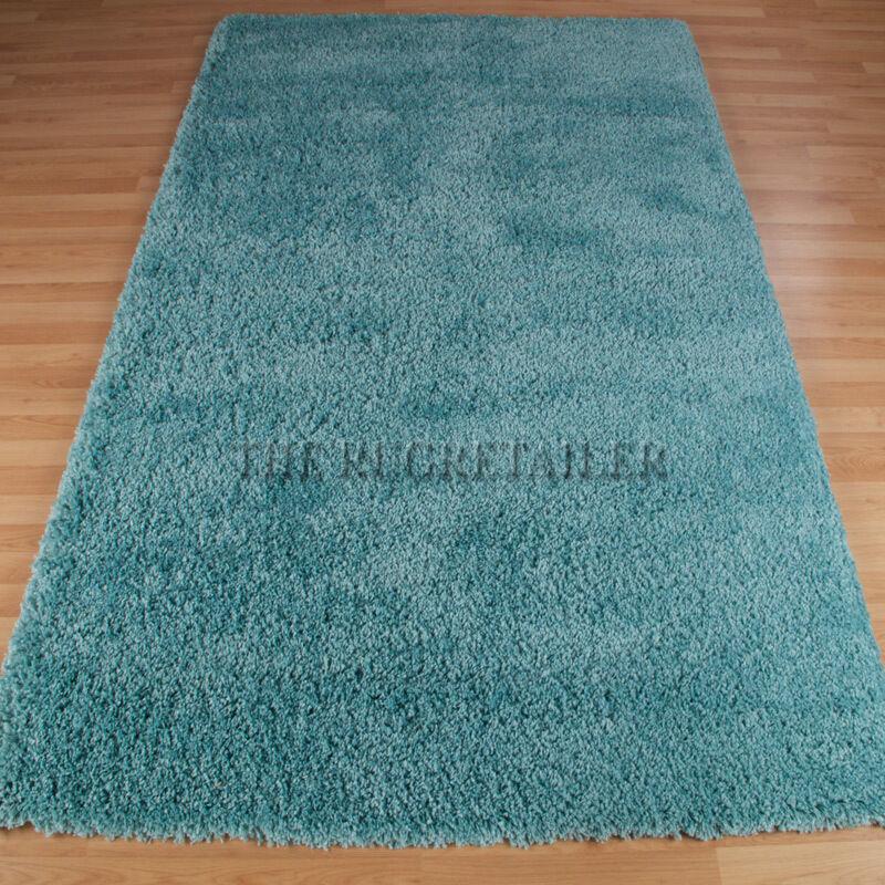 SUPER SHAGGY tappeti-Blu Alzavola   un' elevata qualità Palo semplice zona di Shag pile tappeto di grandi dimensioni