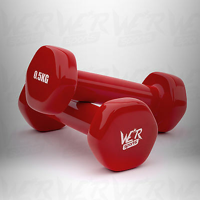Vinyl Dumbbell Set Ladies Aerobic Training Weights Strength Training Home Gym ★