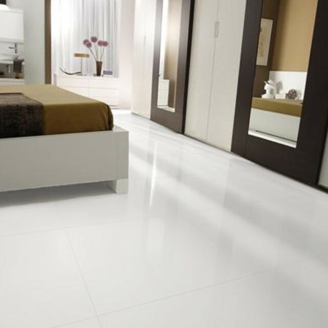 White Gloss Wall Floor Tile: Crystal Marmo Glass Stone Tile Porcelain Floor White 24x48