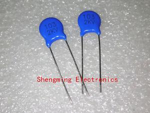 50pcs 10NF 0.01UF 2KV 2000V 103 High Voltage Ceramic Disc Capacitors