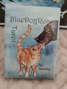 Blue-Dog-Rose-Tarot-self-published-in-2011-by-Nakisha-NEW-SEALED-SHIPS-FAST