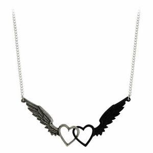 Alchemy-Gothic-Passio-Ailes-De-Amour-Pendentif-Collier-Etain-Double-Coeur