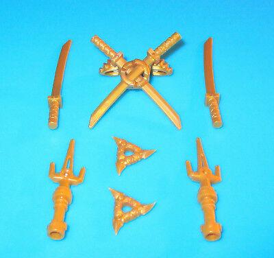 grau 4 Schwerter LEGO Ninjago Waffen NEU rot