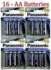 16 Wholesale Panasonic AA Double A Batteries heavy Duty Battery 1.5v Bulk lot