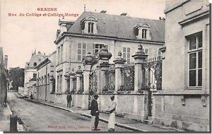 CPA-21-BEAUNE-rue-du-college-et-college-monge