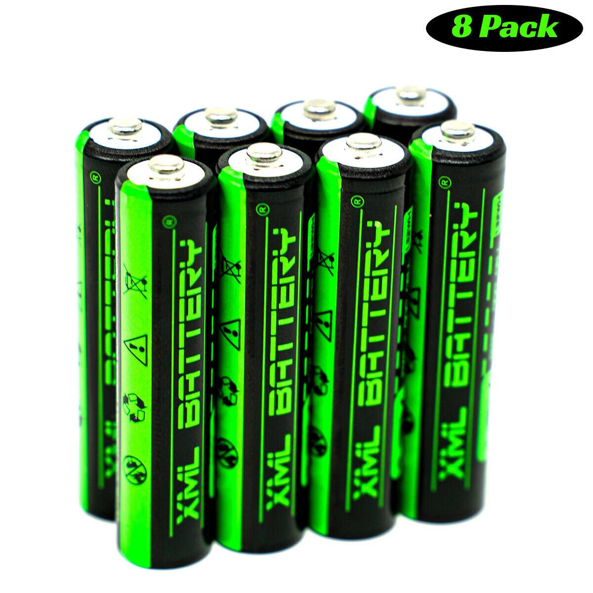 (8 Pack) 1.2v 1100mAh NI-MH Battery for Multi-use General Purpose Security