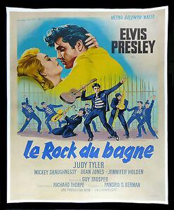 1e5abdef5c489 Details about JAILHOUSE ROCK *CineMasterpieces FRANCE ORIGINAL MOVIE POSTER  ELVIS PRESLEY 1957