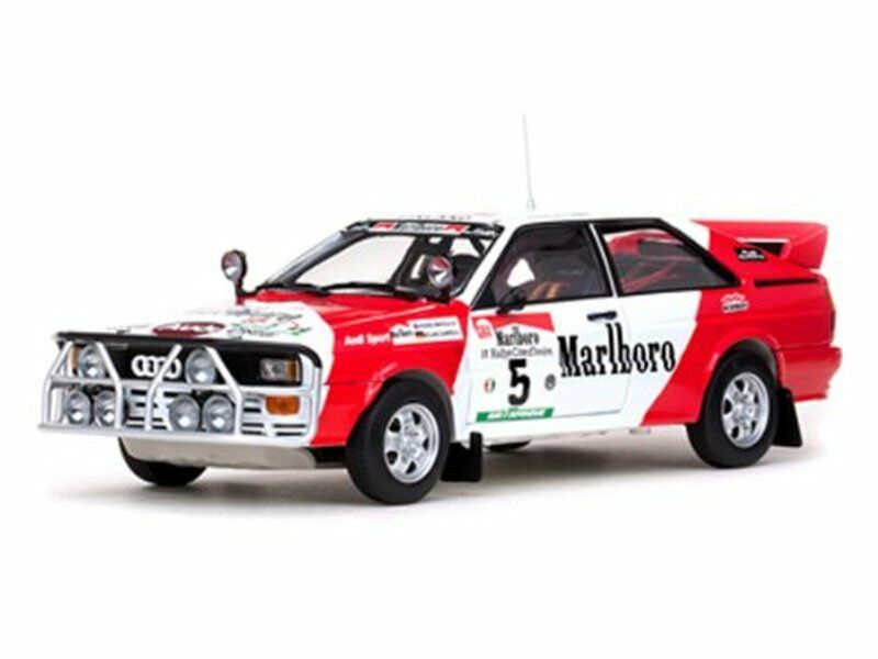 SUNSTAR 4196 4197 4220 4221 AUDI QUATTRO model rally cars 1982 1 18th scale