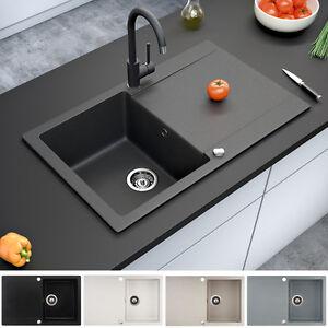 Granit Spule Kuchenspule Einbauspule Auflage Spulbecken Drehexcenter