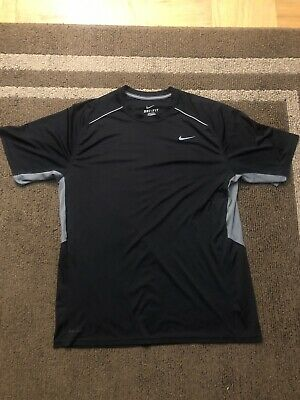 Activewear Intellective Men's Nike Active Dri Fit Short Sleeve Shirt Size Xl Black Clearance Price
