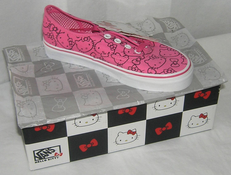 Hello Kitty VANS Rosa Authentic LADIES 5.5 Limited Edition NIB