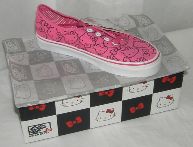 Buy Hello Kitty VANS Pink Authentic Ladies 5.5 Christmas Gift USA ... a877f16fd