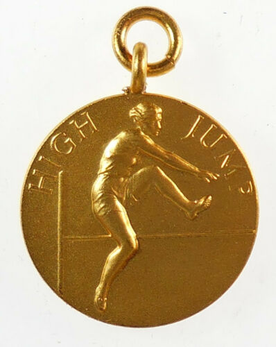 Great Britain By Pinches gilt-bronze 25mm sports WOMEN/'S HIGH JUMP