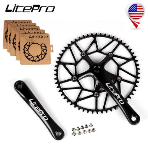 Litepro 170mm Crankset 130BCD 50T-58T Folding Bike Narrow Wide Chainwheel Crank