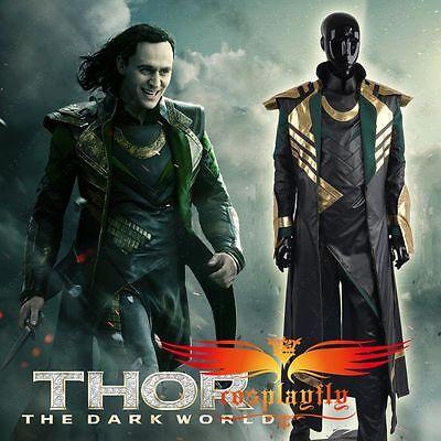 Thor The Dark World Loki Men Cosplay Costume Customizable for Halloween Carnival