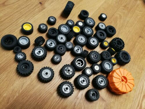 u.a. gummierte Reifen Farben 50x Konvolut Rad Reifen Felge Lego versch