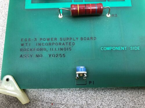 Details about  /USED WTI INC EGS-3 POWER SUPPLY BOARD ASSY Y0255