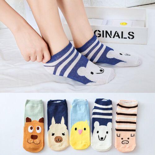Women Girls Comfortable Smile Cartoon Cute Sock Short Ankle Cotton Socks 2019