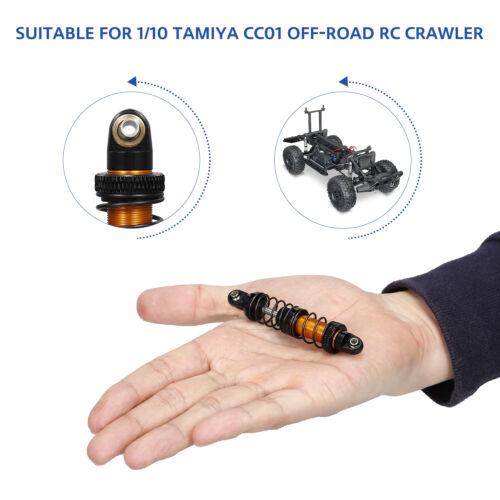 4pcs einstellbare 70mm Metall Stoßdämpfer Dämpfer für 1//10 Tamiya CC01 RC U5R6