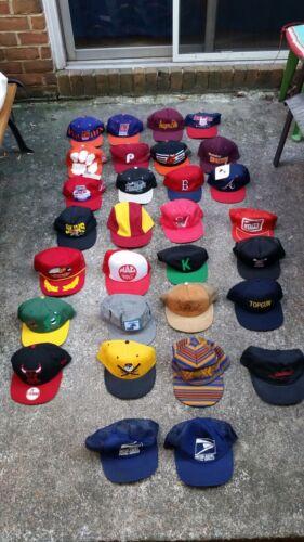 Vintage Hat Lot of 30 Mostly Snapback & Trucker Ha