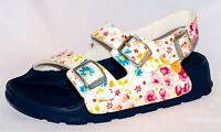 Birki's Sandals By Birkenstock For Girls Strap Aruba Magic Flower White Narrow