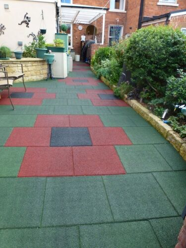 Gymnasium Garden Green Rubber Tiles 1 SQM Euro Manufactured Playground