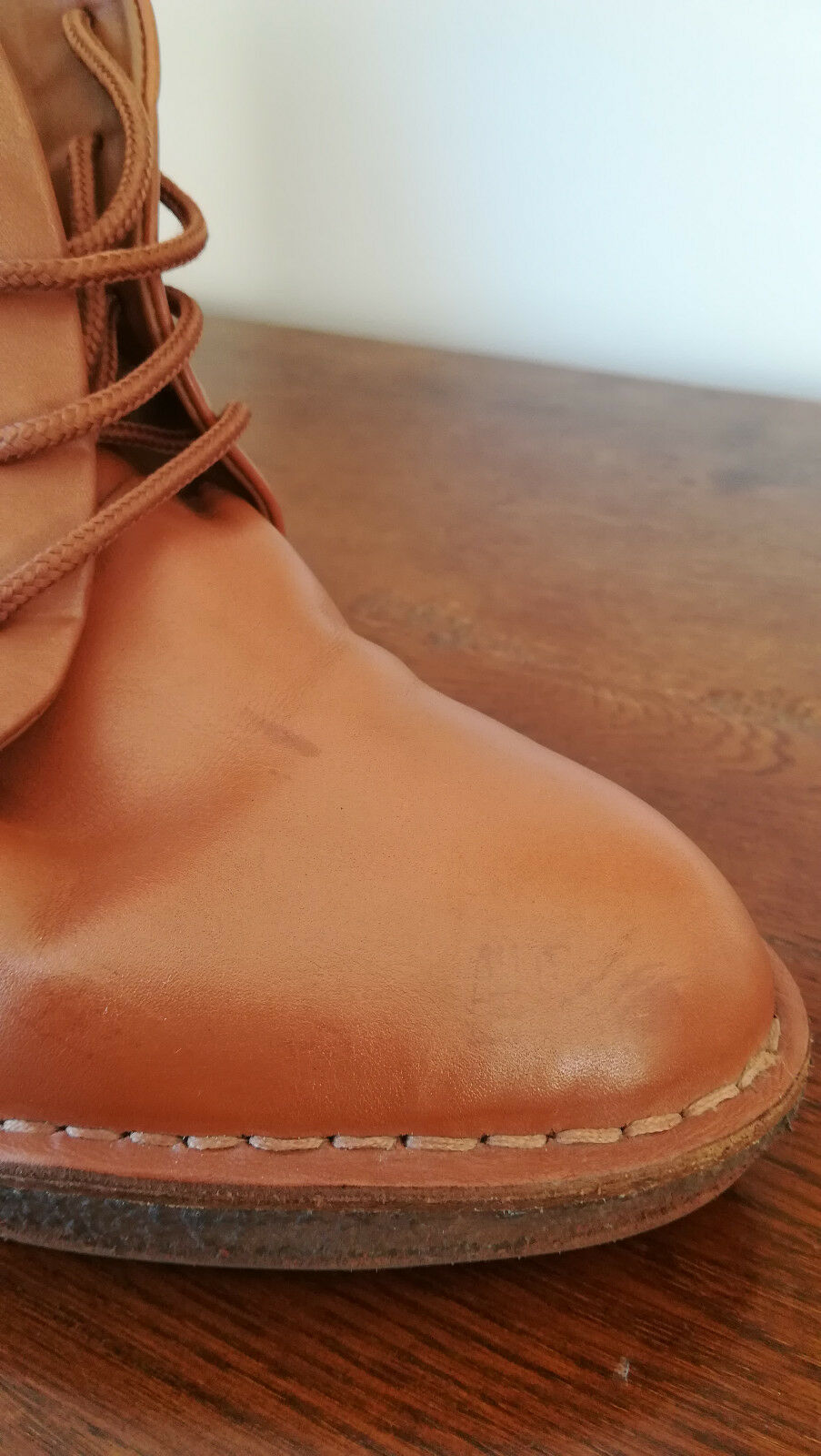BOTTINES FEMME MARC BY BY BY MARC JABOCS -CUIR brown CLAIR -SEMELLES COMPENSEES PT 41 a77332